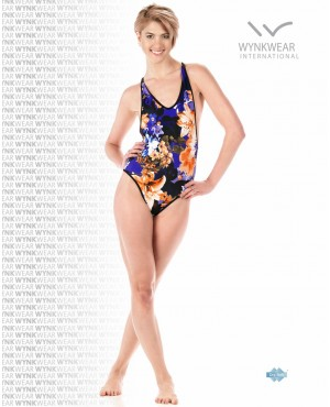 Blossom Printed Front Zip One Piece