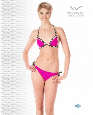 Leopard Fuchsia Countney Two Piece Swimsuit