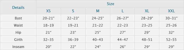 Girls body size